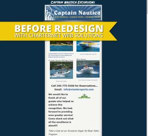 Captain Nautica Before Redesign